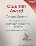 Soft-Pro is SingTel Club 100 member